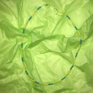Jewelry - Blue, Green, and Yellow Beaded Choker